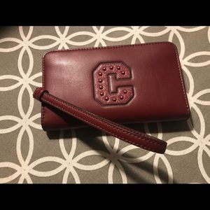 NWT Coach leather zip around wallet / wristlet